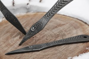 MUNINN ETCHED THROWING KNIFE - SET OF 3 - SHARP BLADES - THROWING KNIVES{% if kategorie.adresa_nazvy[0] != zbozi.kategorie.nazev %} - WEAPONS - SWORDS, AXES, KNIVES{% endif %}