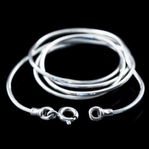 SOLID, SILVER NECK CHAIN - CORDS, BOXES, CHAINS{% if kategorie.adresa_nazvy[0] != zbozi.kategorie.nazev %} - JEWELLERY{% endif %}