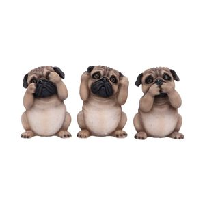 THREE WISE PUGS 8.5CM - FIGURES, LAMPS, CUPS{% if kategorie.adresa_nazvy[0] != zbozi.kategorie.nazev %} - PAGAN DECORATIONS{% endif %}