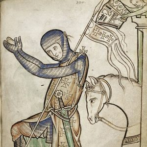 ONE-HANDED SWORD WESTMINSTER PSALTER XIII. CENTURY FULL TANG WITH STONE - MEDIEVAL SWORDS{% if kategorie.adresa_nazvy[0] != zbozi.kategorie.nazev %} - WEAPONS - SWORDS, AXES, KNIVES{% endif %}