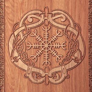 HELM OF AWE WALL DECORATION PLAQUETTE - WOODEN STATUES, PLAQUES, BOXES{% if kategorie.adresa_nazvy[0] != zbozi.kategorie.nazev %} - WOOD{% endif %}