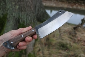 KAZUO - SANTOKU CLEAVER, FORGED KNIFE - KNIVES{% if kategorie.adresa_nazvy[0] != zbozi.kategorie.nazev %} - WEAPONS - SWORDS, AXES, KNIVES{% endif %}