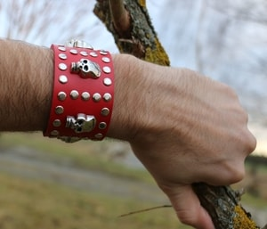 ROCKER, LEATHER BRACELET XXIV - WRISTBANDS{% if kategorie.adresa_nazvy[0] != zbozi.kategorie.nazev %} - LEATHER PRODUCTS{% endif %}