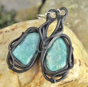 AMAZONITE EARRINGS - PIERRES ET FANTASY{% if kategorie.adresa_nazvy[0] != zbozi.kategorie.nazev %} - BIJOUTERIE{% endif %}