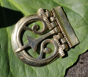 ROMAN BUCKLE FOR BELTS, BRASS - COSTUME BROOCHES, FIBULAE{% if kategorie.adresa_nazvy[0] != zbozi.kategorie.nazev %} - JEWELLERY{% endif %}