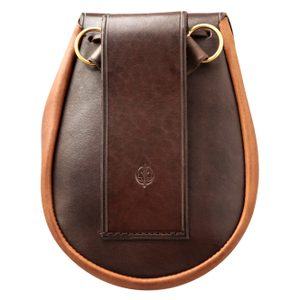 SULLIVAN, SCOTTISH SPORRAN, BROWN WITH BELT - BAGS, SPORRANS{% if kategorie.adresa_nazvy[0] != zbozi.kategorie.nazev %} - LEATHER PRODUCTS{% endif %}