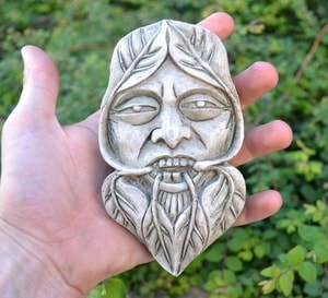 GREENMAN, NATURE SPIRIT WALL PLAQUE - WALL PLAQUES, CLOCK{% if kategorie.adresa_nazvy[0] != zbozi.kategorie.nazev %} - PAGAN DECORATIONS{% endif %}