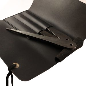 LEATHER CASE FOR THROWING KNIVES, BLACK - SHARP BLADES - THROWING KNIVES{% if kategorie.adresa_nazvy[0] != zbozi.kategorie.nazev %} - WEAPONS - SWORDS, AXES, KNIVES{% endif %}