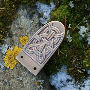 VIKING STRAP END, BIRKA, BRONZE - BELT ACCESSORIES{% if kategorie.adresa_nazvy[0] != zbozi.kategorie.nazev %} - LEATHER PRODUCTS{% endif %}