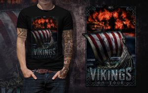 VIKINGS ON TOUR, MEN'S T-SHIRT COLORED - PAGAN T-SHIRTS NAAV FASHION{% if kategorie.adresa_nazvy[0] != zbozi.kategorie.nazev %} - T-SHIRTS, BOOTS - ROCK MUSIC{% endif %}