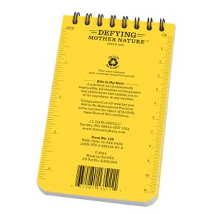 RITE IN THE RAIN - ALL-WEATHER NOTEBOOK - 3X5'' - 935 - YELLOW - RITE IN THE RAIN{% if kategorie.adresa_nazvy[0] != zbozi.kategorie.nazev %} - OUTDOOR SHOP{% endif %}
