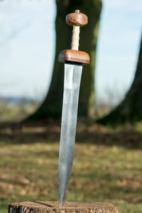 GLADIUS SWORD, TYPE MAINZ WITH SCABBARD, SHARP REPLICA - ANCIENT SWORDS - CELTIC, ROMAN{% if kategorie.adresa_nazvy[0] != zbozi.kategorie.nazev %} - WEAPONS - SWORDS, AXES, KNIVES{% endif %}
