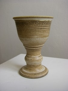 MEDIEVAL CERAMIC GOBLET FOR WINE - HISTORICAL CERAMICS{% if kategorie.adresa_nazvy[0] != zbozi.kategorie.nazev %} - CERAMICS, GLASS{% endif %}