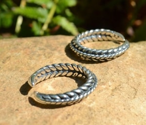 VIKING BRAIDED RING, STERLING SILVER, AG 925 - FILIGREE AND GRANULATED REPLICA JEWELS{% if kategorie.adresa_nazvy[0] != zbozi.kategorie.nazev %} - JEWELLERY{% endif %}