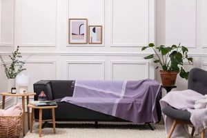 HEATHER & PURPLE GIANT COLOUR BLOCK THROW, LAMBSWOOL - WOOLEN BLANKETS AND SCARVES, IRELAND{% if kategorie.adresa_nazvy[0] != zbozi.kategorie.nazev %} - WOOLEN PRODUCTS, IRELAND{% endif %}