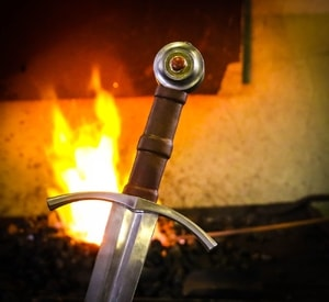 CAROLUS REX, MEDIEVAL SWORD FORGED, SHARP REPLICA - MEDIEVAL SWORDS{% if kategorie.adresa_nazvy[0] != zbozi.kategorie.nazev %} - WEAPONS - SWORDS, AXES, KNIVES{% endif %}