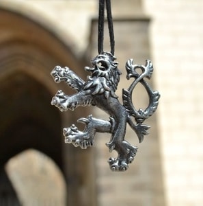 HERALDIC TWO-TAILED LION, PENDANT, SILVER PLATED - ANIMAL PENDANTS{% if kategorie.adresa_nazvy[0] != zbozi.kategorie.nazev %} - JEWELLERY{% endif %}
