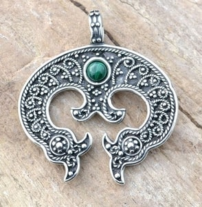 LUNULA, WOMEN'S EARLY MEDIEVAL PENDANT, AG 925 - FILIGREE AND GRANULATED REPLICA JEWELS{% if kategorie.adresa_nazvy[0] != zbozi.kategorie.nazev %} - JEWELLERY{% endif %}