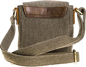 SHOULDER BAG WITH POCKETS, UNISEX, CANVAS, LEATHER - WOOLEN HANDBAGS & BAGS{% if kategorie.adresa_nazvy[0] != zbozi.kategorie.nazev %} - WOOLEN PRODUCTS, IRELAND{% endif %}