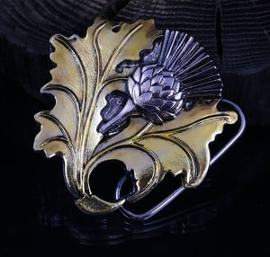 ALBA, SCOTTISH THISTLE, BELT BUCKLE - CUSTOM MADE BELTS{% if kategorie.adresa_nazvy[0] != zbozi.kategorie.nazev %} - LEATHER PRODUCTS{% endif %}