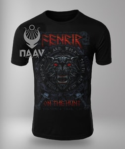 FENRIR ON THE HUNT RED, MEN'S VIKING T-SHIRT - PAGAN T-SHIRTS NAAV FASHION{% if kategorie.adresa_nazvy[0] != zbozi.kategorie.nazev %} - T-SHIRTS, BOOTS{% endif %}
