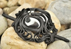 HAIR PIN WITH HEMATITE - FANTASY JEWELS{% if kategorie.adresa_nazvy[0] != zbozi.kategorie.nazev %} - JEWELLERY{% endif %}