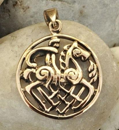 Odin and sleipnir bronze pendant wulflund odin and sleipnir bronze pendant aloadofball Gallery