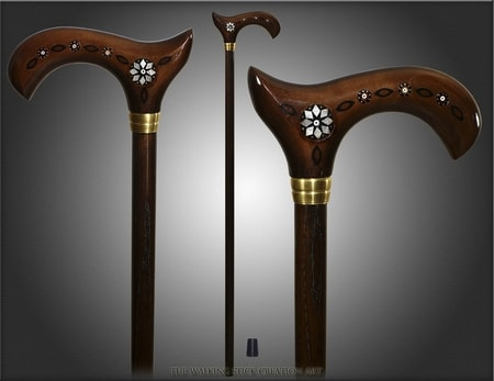 INLAY, Folk - Walking Stick, Cane