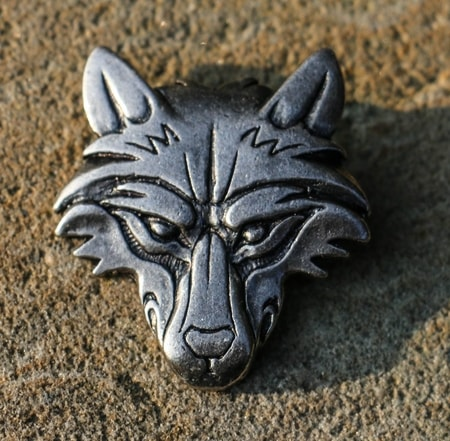 VUK, Wolf Head Pendant, tin