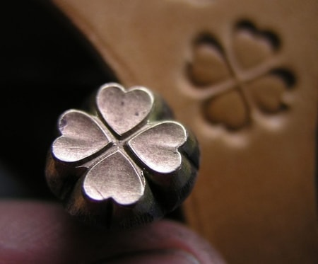 IRISH CLOVER, leather stamp