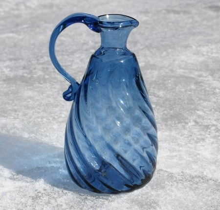 Blue Carafe - historical glass