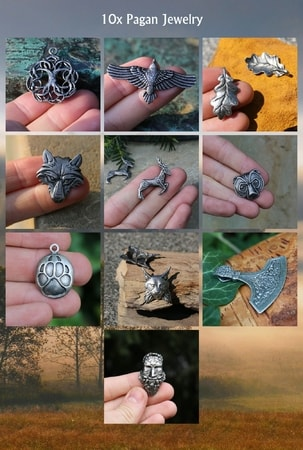 FROM THE WOODS, PENDANTS - WHOLESALE SET OF 10