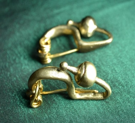 Celtic Iron Age Bronze Fibula, Bohemia, Replica