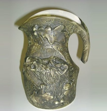 CERAMIC PITCHER, WILD BOAR