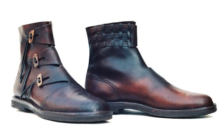 Medieval Boots for Men,Pirate boots Ankle Boots Renaissance SCA