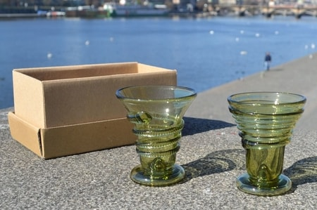 TWO SHOT GLASSES, forrest glass
