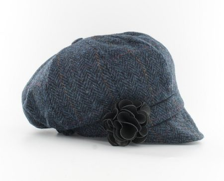 Ladies NEWSBOY CAP - Blue, wool, Ireland