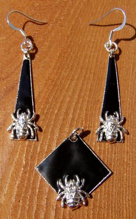 SPIDER SILVER JEWELS - Vitreous Enamel Jewels