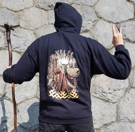 VELES, Slavic God, Zip Up Hoodie colored