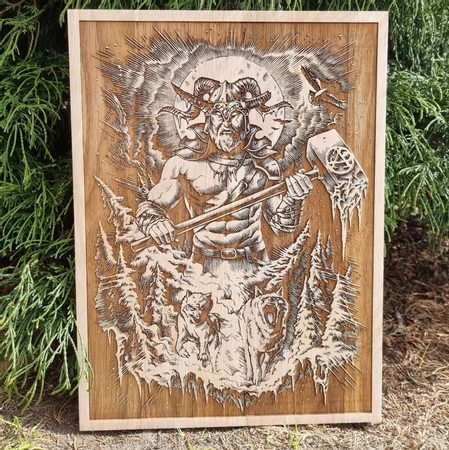 CHERNOBOG WALL DECORATION 30X40 WOOD