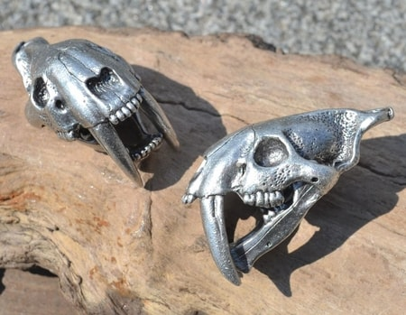 SMILODON, Sabertooth Tiger Skull Pendant