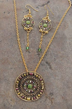 GALILEI, set of pendant and earrings