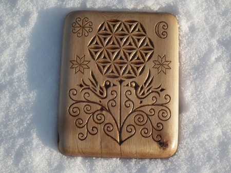 FLOWER OF LIFE, wood carving