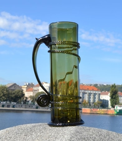 ONE LITER GLASS, hand blown