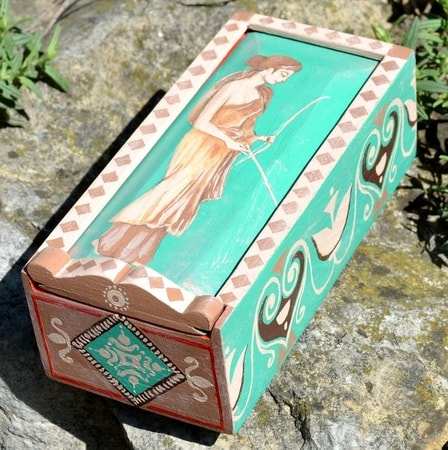 ROMANA PUELLA, Ancient Rome Wooden Box, replica