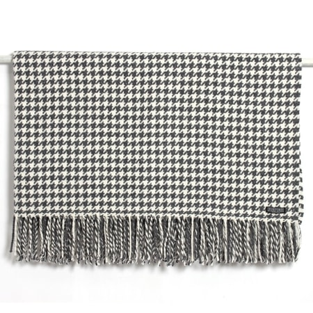 Houndstooth Double Twill, merino wool blanket