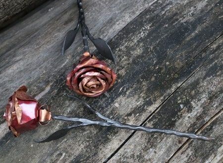 Forged Rose, copper