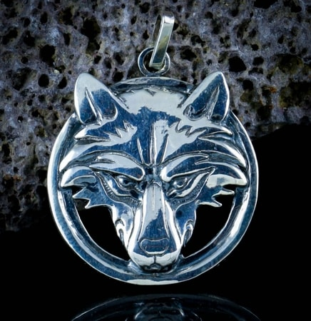 WITCHER - Wolf's head, sterling silver pendant