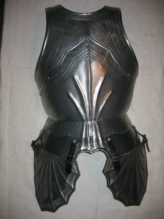 CUSTOM MADE FRONT PLATE CURIASS, gothic armor