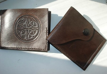 CELTIC STYLE LEATHER WALLET